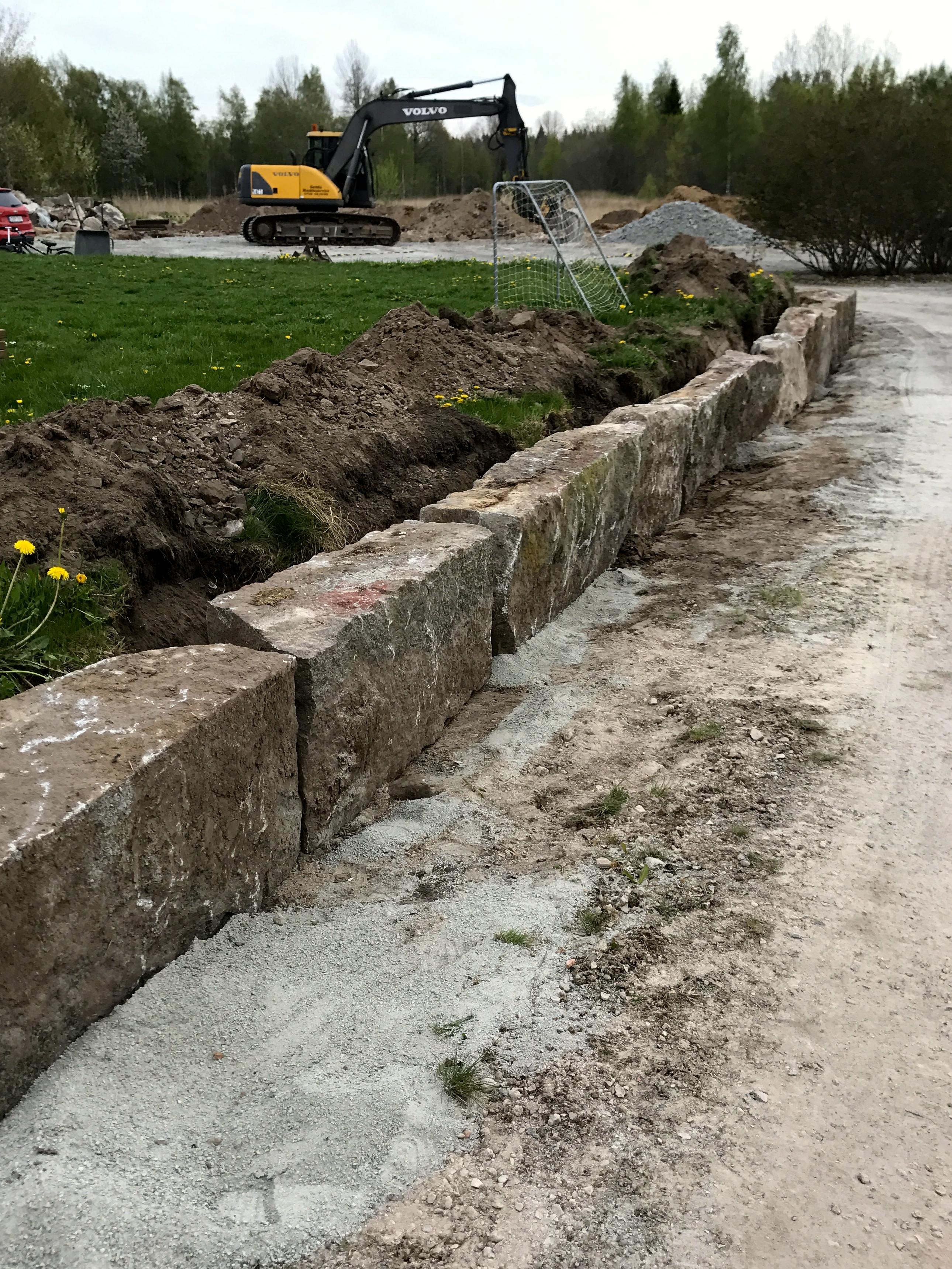 trädgårdens ramar - mur