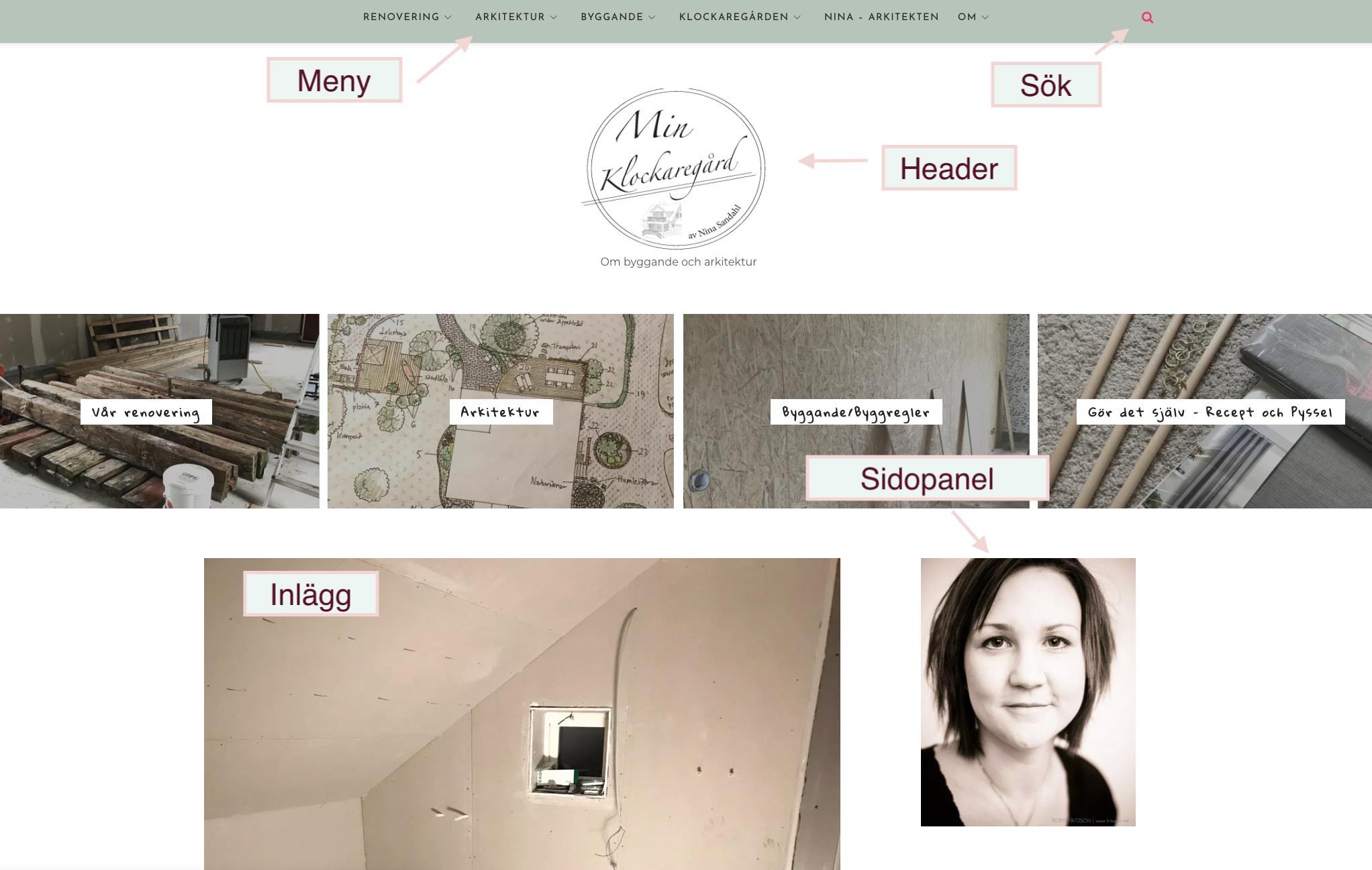 Hitta på bloggen - ny design